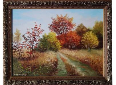 """""""Осенняя дорога"""" в раме"""