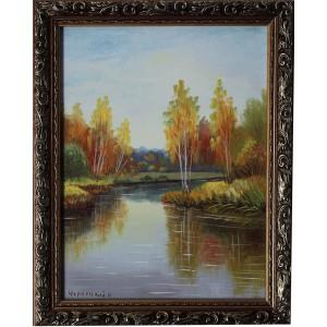 Осенний пейзаж в раме