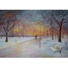 Вечерняя зимняя аллея