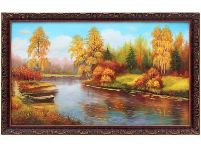 Осенний пейзаж с лодочкой