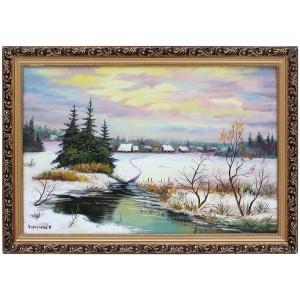 Зимний пруд около поселка (Киевская обл)
