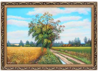 Дорога у пшеничного поля