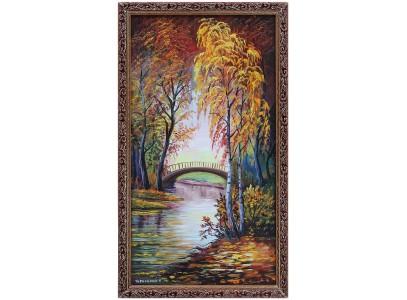 Осенний мостик у пруда