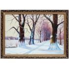 Зимняя дубовая аллея