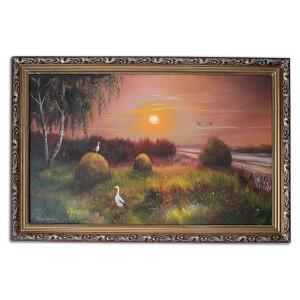 Закат солнца на поле