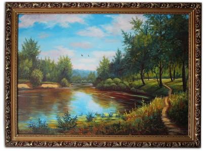 Летний пейзаж у реки