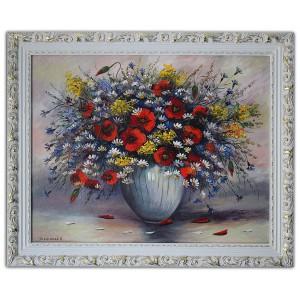 Букет полевых цветов с маками