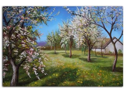 Цветущий яблочный сад