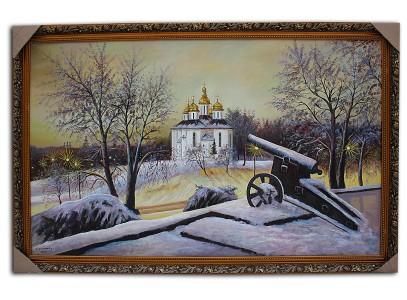 Ночной вид Церкви с пушкой ( Чергнигов)