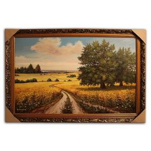 Выставочная работа Дорога с пшеницей